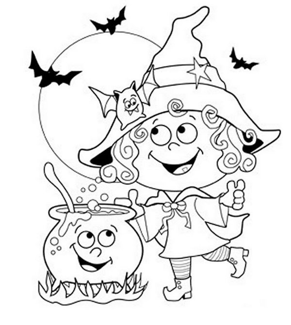 coloring pages kids halloween | 20 Fun Halloween Coloring Pages for Kids - Hative