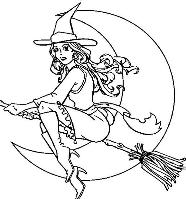 halloween witch coloring pages - photo#16