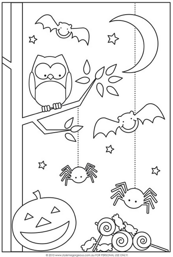 funny halloween coloring pages - photo#13