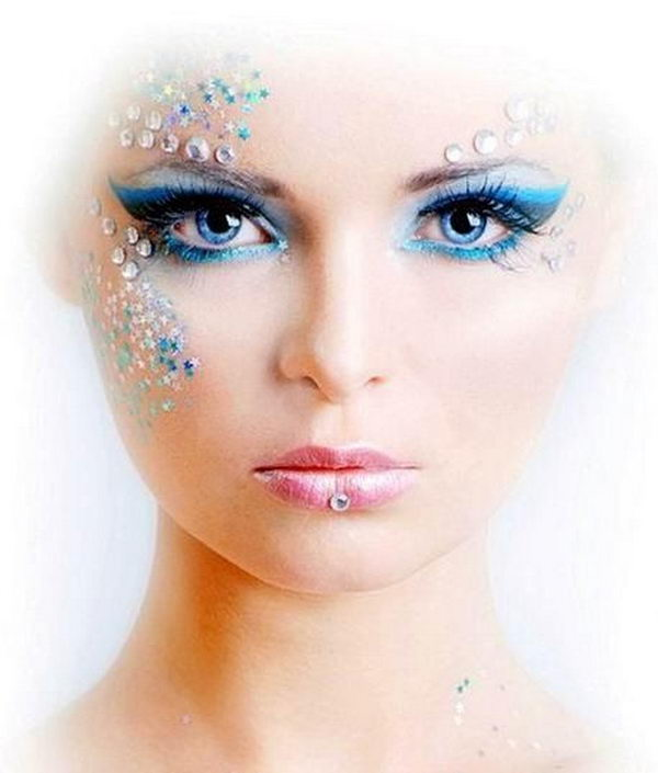 20 Cool Halloween Eye Makeup Ideas  Hative - Cool Makeup Designs