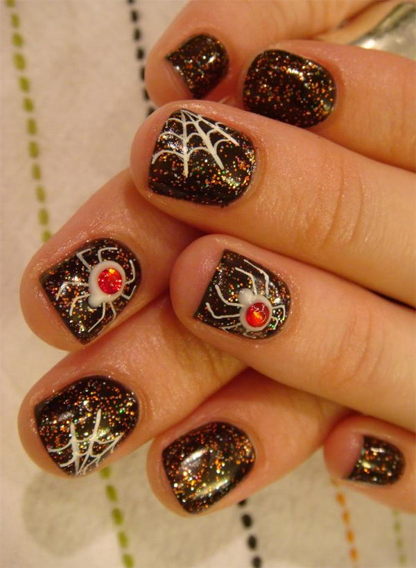 Spider Halloween Nail. Cool Halloween Nail Art which show off your spooky spirit during the freakish festivities.