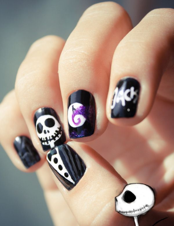 30 Cool Halloween Nail Art Ideas