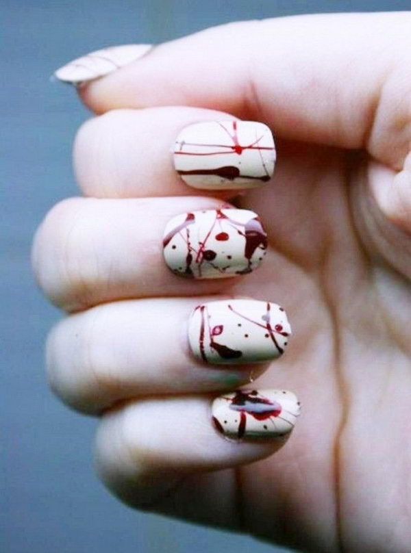 Chilling Halloween Makeup Looks: 30 Cool Halloween Nail Art Ideas