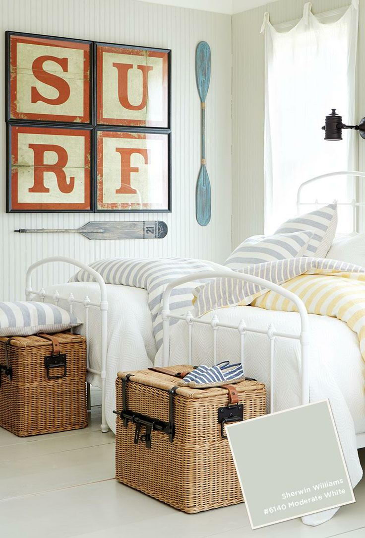 25 nautical bedding ideas for boys hative for Boys beach bedroom ideas