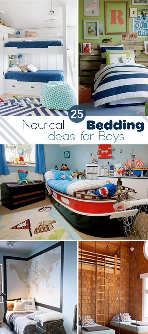 Nautical Bedding Ideas for Boys!