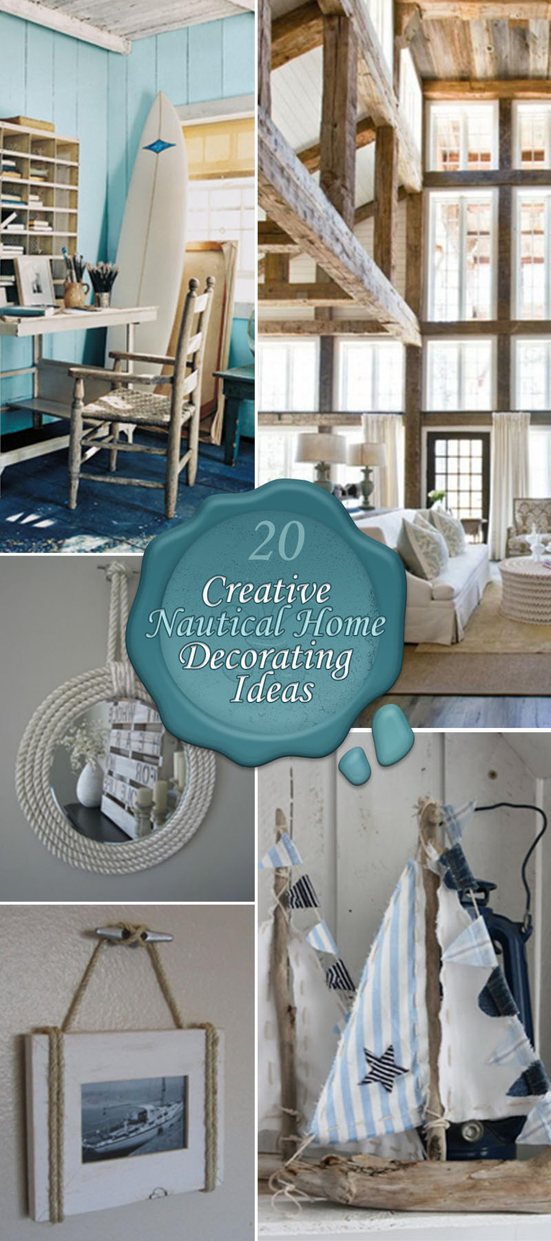 20 Creative Nautical Home Decorating Ideas - Hative