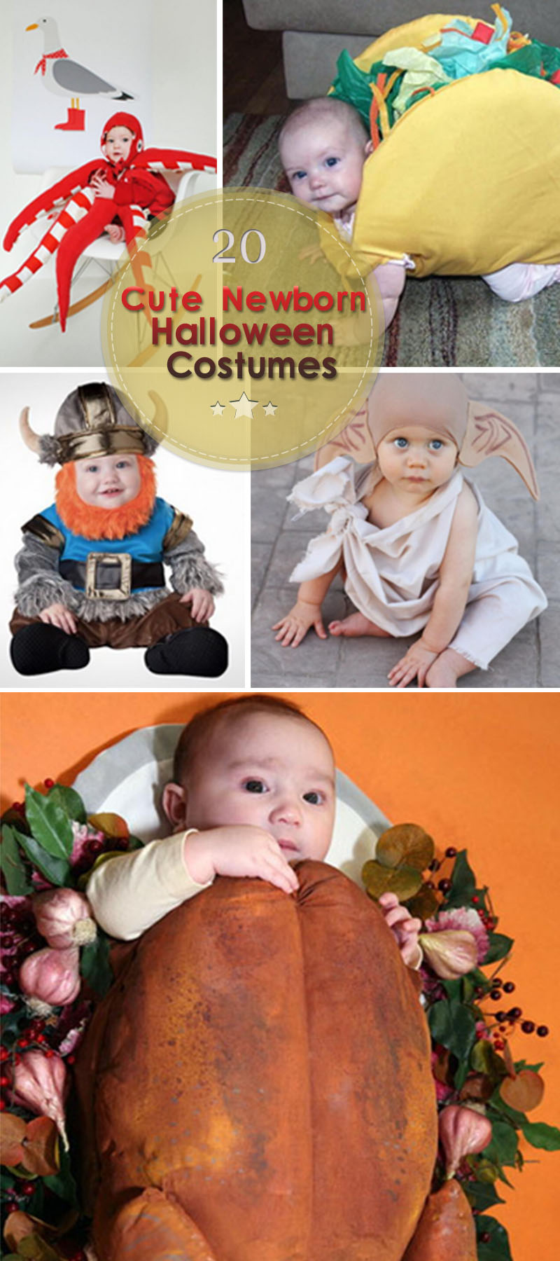 Cute Newborn Halloween Costumes for the little ones in your life!