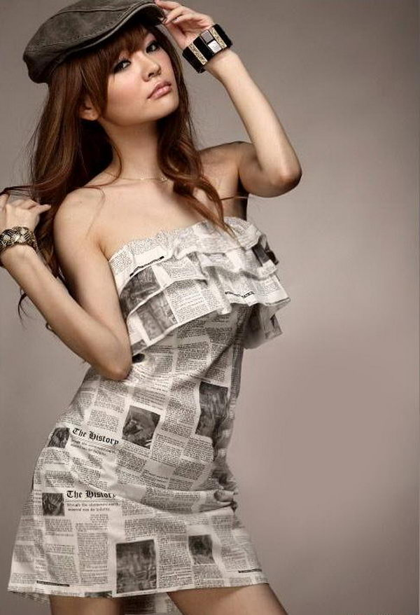 Creative and Fashionable Newspaper Craft. It looks elegant and worth money instead of just recycled news paper.