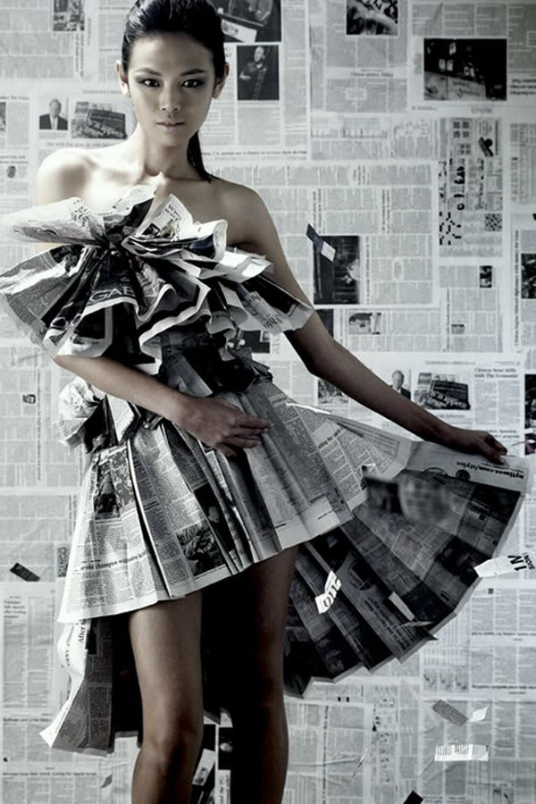 20 Creative Newspaper Craft Fashion Ideas Hative
