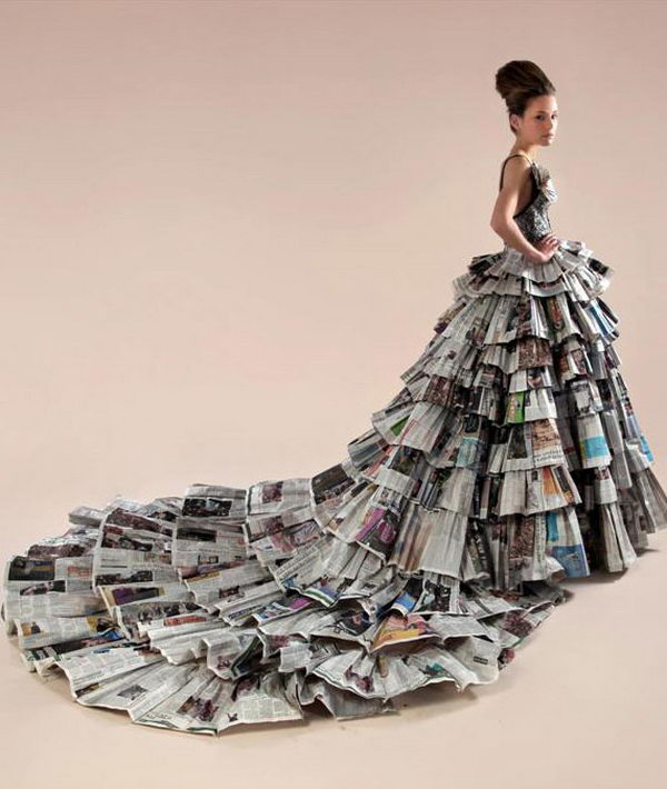 Easy Home Decor Ideas: 20 Creative Newspaper Craft Fashion Ideas