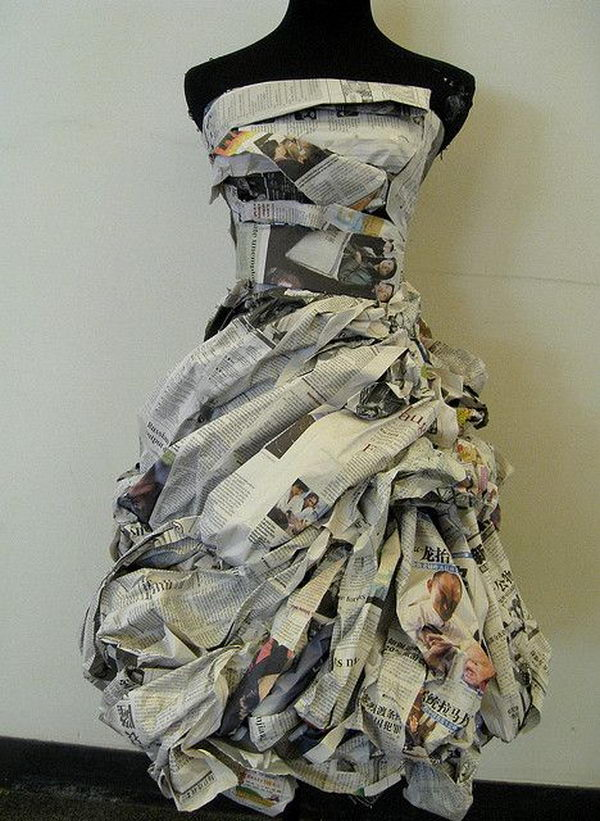 craft clothing ideas 20 creative newspaper craft fashion ideas hative 1464