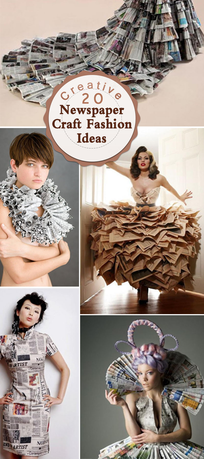 Creative Newspaper Craft Fashion Ideas!