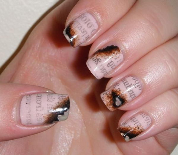 20 Cool Newspaper Nail Art Ideas Hative