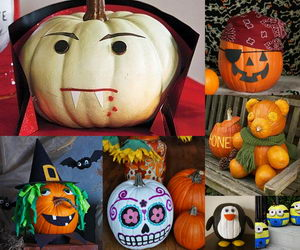 no-carve-pumpkin-ideas-collage
