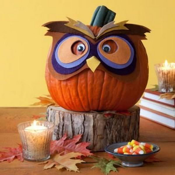 30 no carve pumpkin ideas for halloween decoration hative - Deco citrouille halloween ...
