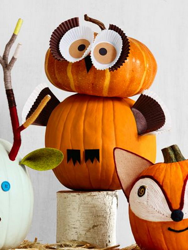 30 no carve pumpkin ideas for halloween decoration hative - Deco citrouille pour halloween ...