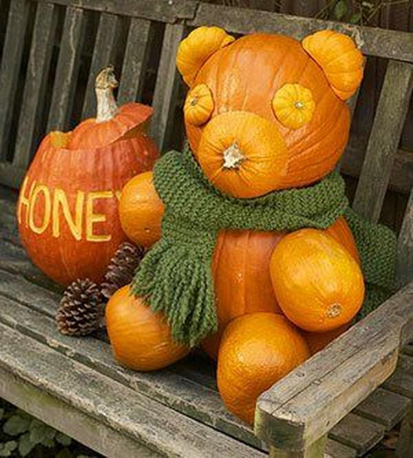 Shabby Chic Decorating Ideas: 30 No Carve Pumpkin Ideas For Halloween Decoration