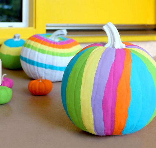 30 no carve pumpkin ideas for halloween decoration hative Funny pumpkin painting ideas