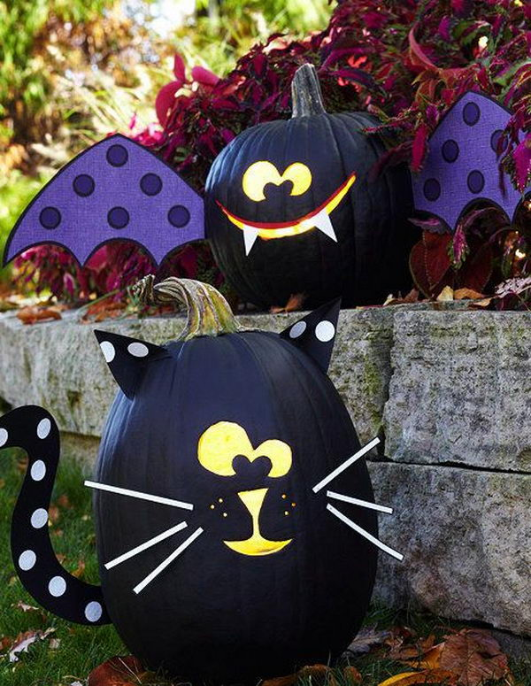 No Carve Pumpkin Ideas for Halloween. It was super easy and a lot of ...