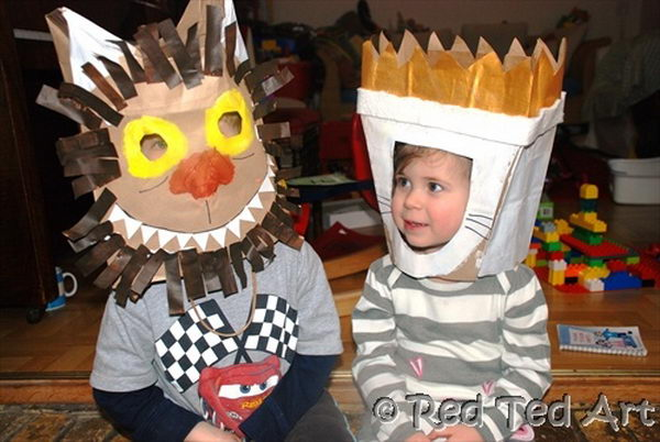 Paperbag Costumes for Kids. There is no easier costume than a paper bag mask. Grab a paper bag and cut out holes for your eyes then grab a few markers and let your imagination go wild. They are so simple for kids to make and to wear.