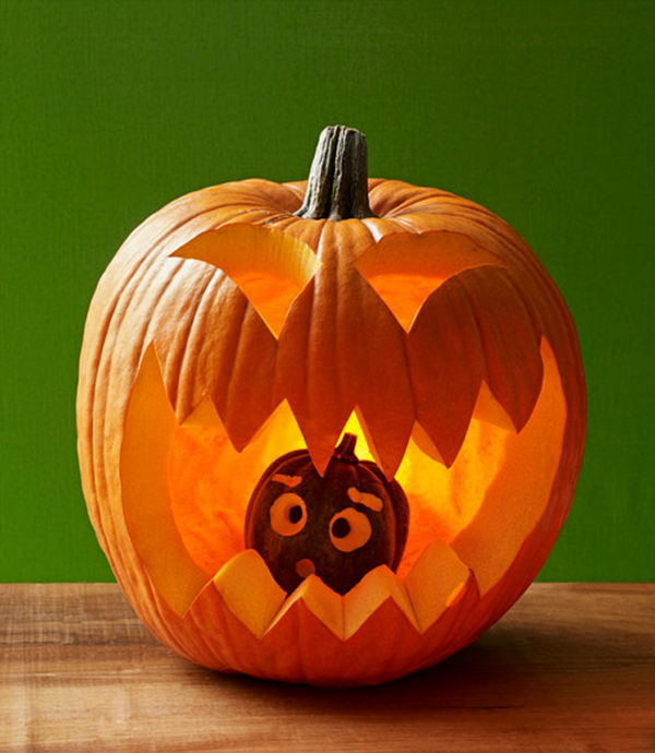 40 awesome pumpkin carving ideas for halloween decorating for Boo pumpkin ideas