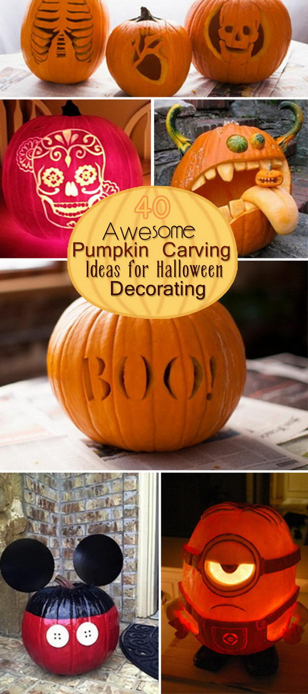 40 awesome pumpkin carving ideas for halloween decorating - hative