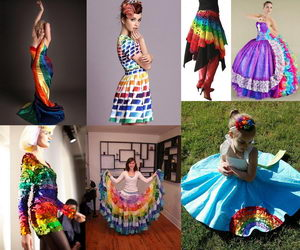 rainbow-colored-dress-collage