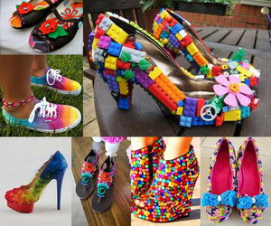 rainbow-colored-shoes-collage