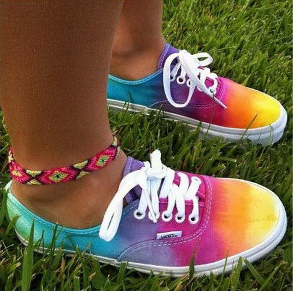 10 Creative Rainbow Colored Shoes Hative