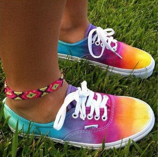 10+ Creative Rainbow Colored Shoes - Hative