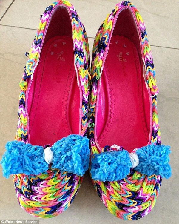 Rainbow Colored Shoes. Colorful and beautiful shoes are always girls' love.