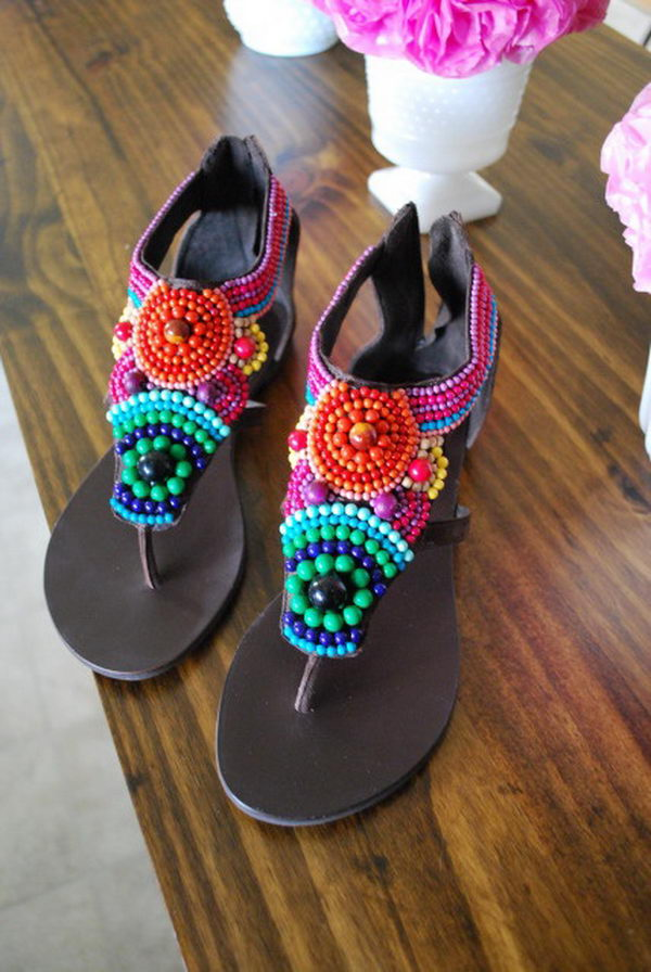 Creative Rainbow Colored Shoes Hative