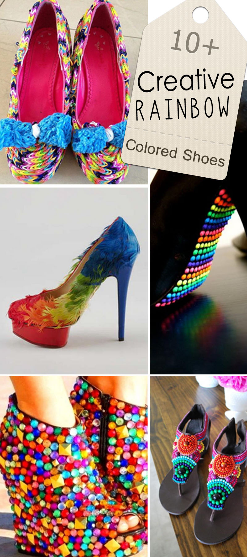 Creative Rainbow Colored Shoes!