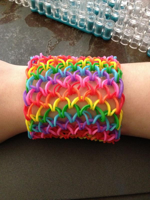 Dragon Scale Rainbow Loom Bracelet. Rainbow Loom is one of the top gifts for kids, and every kid seems to have at least one piece of rubber band jewelry.