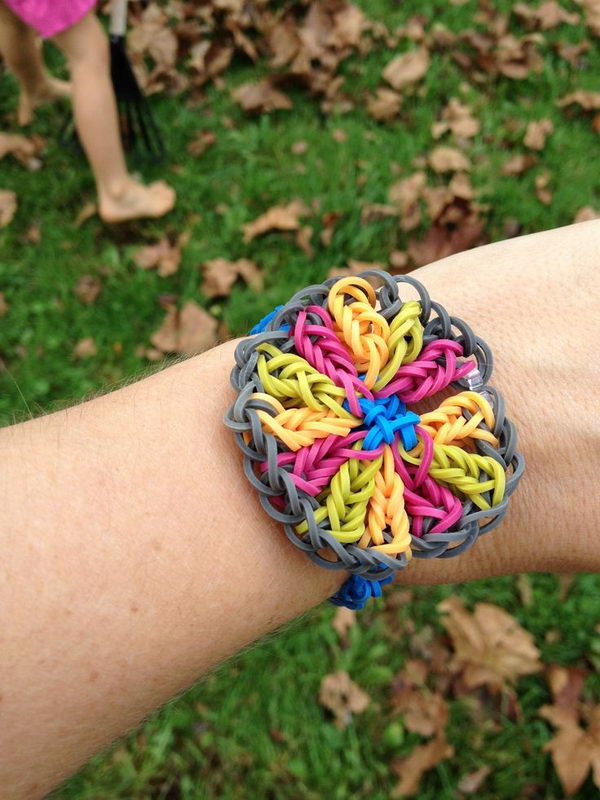rainbow loom cha cha loom bands karet gelang handmade box biru MEMEs