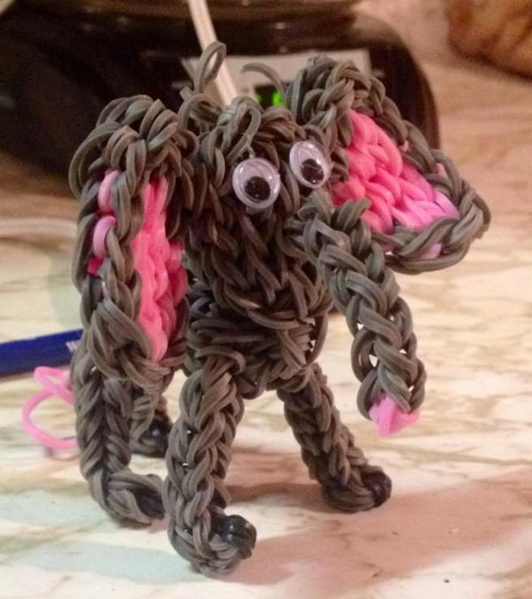 Rainbow Loom Elephant. Rainbow Loom is a plastic loom used to weave colorful rubber bands into bracelets and charms. It is one of the top gifts for kids.