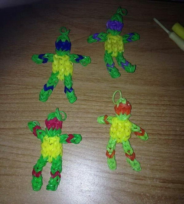 Ninja Turtles Rainbow Looms. Rainbow Loom is a plastic loom used to weave colorful rubber bands into bracelets and charms. It is one of the top gifts for kids.