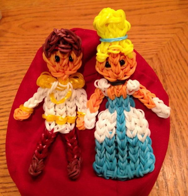 Cinderella and her Prince. Rainbow Loom is a plastic loom used to weave colorful rubber bands into bracelets and charms. It is one of the top gifts for kids.