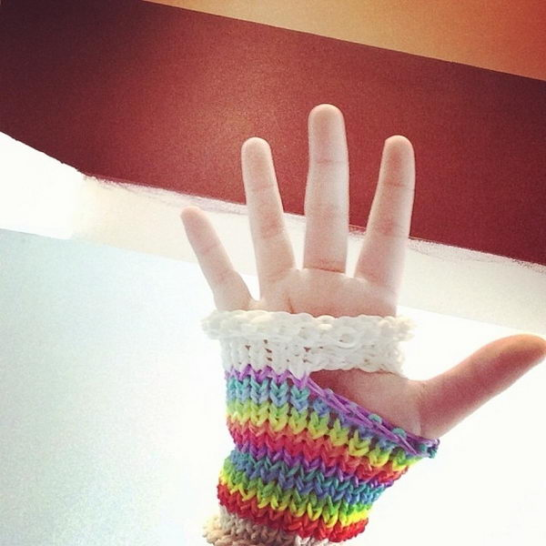 Handwear. Rainbow Loom is a plastic loom used to weave colorful rubber bands into bracelets and charms. It is one of the top gifts for kids.