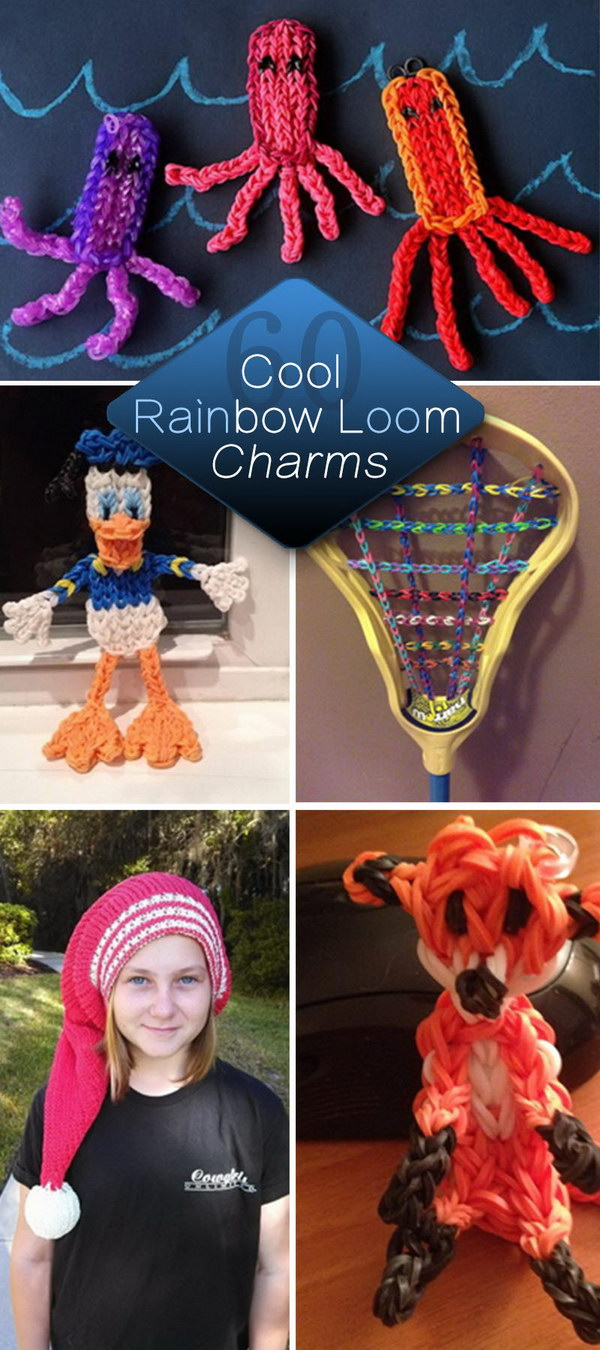 Cool Rainbow Loom Charms!