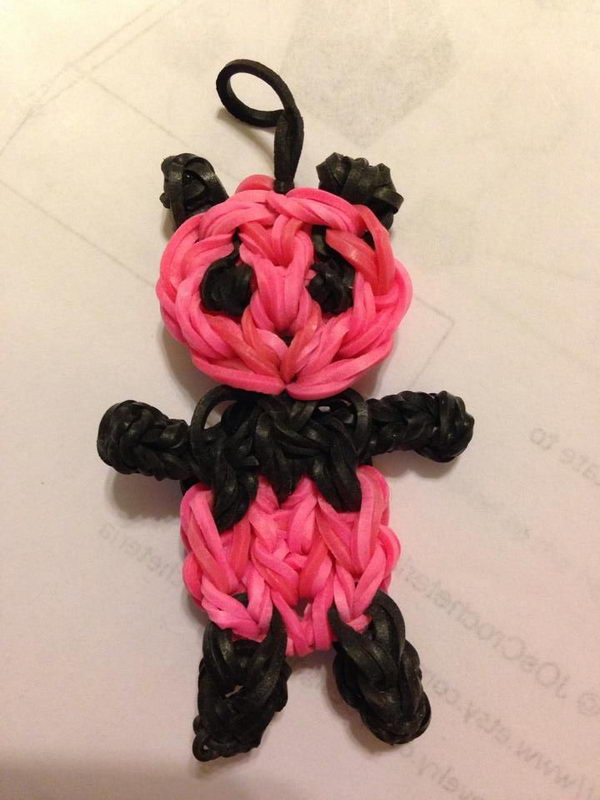 10 Cute Rainbow Loom Panda Charm Ideas for Kids.