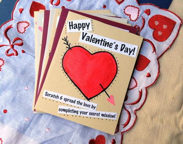 30 Creative Valentine Day Card Ideas Tutorials Hative – Creative Valentine Day Cards