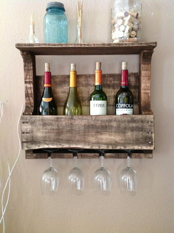 Reclaimed Wood Wine Rack. Really fun to create and have an aesthetic appeal that applies to your unique home.