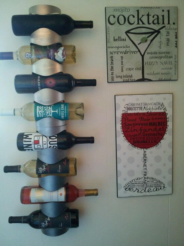 diy barn rack wine ispydiy wood wineholder my steps