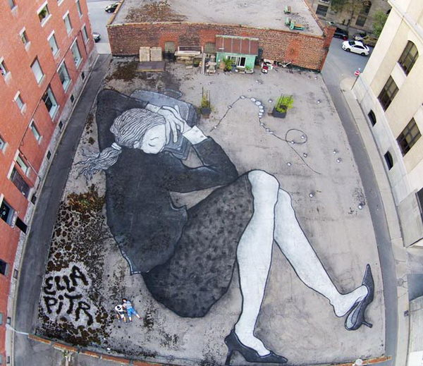 Street Art by French Artist Couple Ella and Pitr.