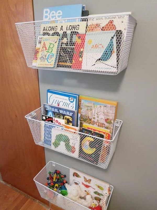 15 creative book storage ideas for kids hative for Toy and book storage