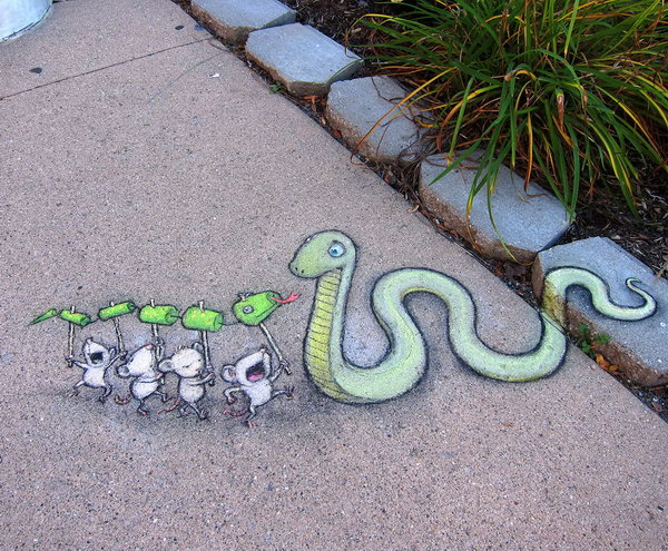 Chalk Street Art by David Zinn.
