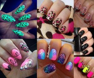 cheetah nail designs collage