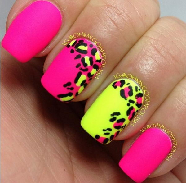 Cheetah or Leopard Nail Art. A great way to express your love for wildlife  and - 15 Cheetah Or Leopard Nail Designs - Hative