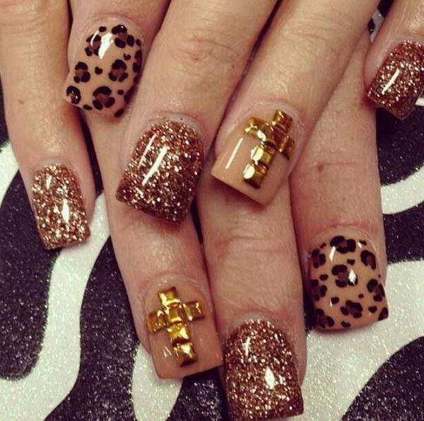 15 Cheetah or Leopard Nail Designs - Hative